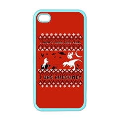 I Wasn t Good This Year, I Was Awesome! Ugly Holiday Christmas Red Background Apple iPhone 4 Case (Color)
