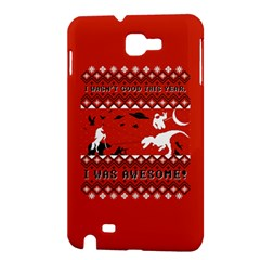 I Wasn t Good This Year, I Was Awesome! Ugly Holiday Christmas Red Background Samsung Galaxy Note 1 Hardshell Case