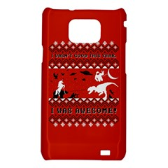I Wasn t Good This Year, I Was Awesome! Ugly Holiday Christmas Red Background Samsung Galaxy S2 i9100 Hardshell Case