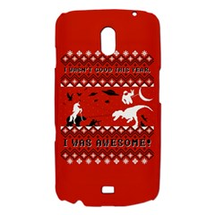 I Wasn t Good This Year, I Was Awesome! Ugly Holiday Christmas Red Background Samsung Galaxy Nexus i9250 Hardshell Case