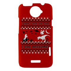 I Wasn t Good This Year, I Was Awesome! Ugly Holiday Christmas Red Background HTC One X Hardshell Case