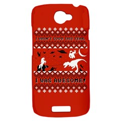 I Wasn t Good This Year, I Was Awesome! Ugly Holiday Christmas Red Background HTC One S Hardshell Case