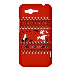 I Wasn t Good This Year, I Was Awesome! Ugly Holiday Christmas Red Background HTC Rhyme