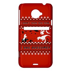 I Wasn t Good This Year, I Was Awesome! Ugly Holiday Christmas Red Background HTC Evo 4G LTE Hardshell Case