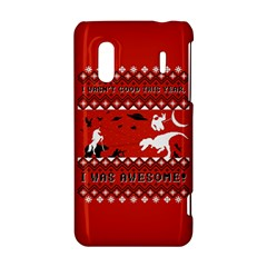I Wasn t Good This Year, I Was Awesome! Ugly Holiday Christmas Red Background HTC Evo Design 4G/ Hero S Hardshell Case
