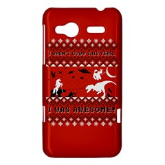 I Wasn t Good This Year, I Was Awesome! Ugly Holiday Christmas Red Background HTC Radar Hardshell Case