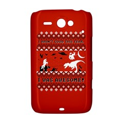 I Wasn t Good This Year, I Was Awesome! Ugly Holiday Christmas Red Background HTC ChaCha / HTC Status Hardshell Case
