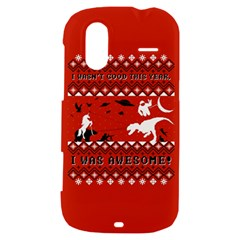 I Wasn t Good This Year, I Was Awesome! Ugly Holiday Christmas Red Background HTC Amaze 4G Hardshell Case
