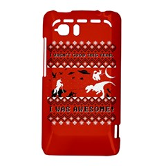 I Wasn t Good This Year, I Was Awesome! Ugly Holiday Christmas Red Background HTC Vivid / Raider 4G Hardshell Case