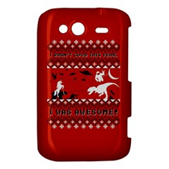 I Wasn t Good This Year, I Was Awesome! Ugly Holiday Christmas Red Background HTC Wildfire S A510e Hardshell Case