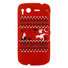 I Wasn t Good This Year, I Was Awesome! Ugly Holiday Christmas Red Background HTC Desire S Hardshell Case