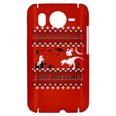 I Wasn t Good This Year, I Was Awesome! Ugly Holiday Christmas Red Background HTC Desire HD Hardshell Case