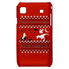 I Wasn t Good This Year, I Was Awesome! Ugly Holiday Christmas Red Background Samsung Galaxy S i9000 Hardshell Case