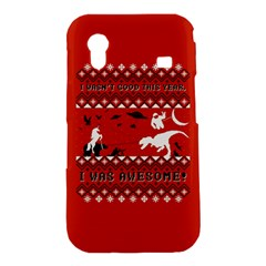 I Wasn t Good This Year, I Was Awesome! Ugly Holiday Christmas Red Background Samsung Galaxy Ace S5830 Hardshell Case