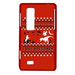 I Wasn t Good This Year, I Was Awesome! Ugly Holiday Christmas Red Background LG Optimus Thrill 4G P925