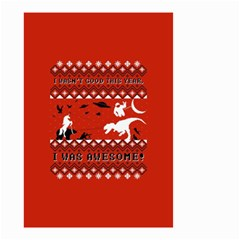 I Wasn t Good This Year, I Was Awesome! Ugly Holiday Christmas Red Background Small Garden Flag (two Sides)