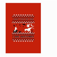 I Wasn t Good This Year, I Was Awesome! Ugly Holiday Christmas Red Background Large Garden Flag (two Sides)