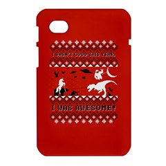 I Wasn t Good This Year, I Was Awesome! Ugly Holiday Christmas Red Background Samsung Galaxy Tab 7  P1000 Hardshell Case
