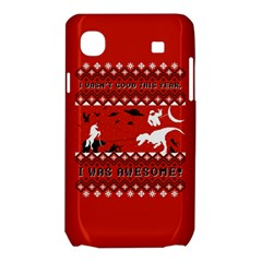 I Wasn t Good This Year, I Was Awesome! Ugly Holiday Christmas Red Background Samsung Galaxy SL i9003 Hardshell Case