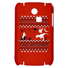 I Wasn t Good This Year, I Was Awesome! Ugly Holiday Christmas Red Background Samsung S3350 Hardshell Case