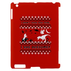 I Wasn t Good This Year, I Was Awesome! Ugly Holiday Christmas Red Background Apple iPad 2 Hardshell Case (Compatible with Smart Cover)