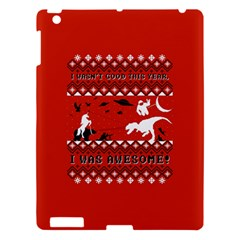 I Wasn t Good This Year, I Was Awesome! Ugly Holiday Christmas Red Background Apple iPad 3/4 Hardshell Case