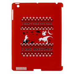 I Wasn t Good This Year, I Was Awesome! Ugly Holiday Christmas Red Background Apple iPad 3/4 Hardshell Case (Compatible with Smart Cover)