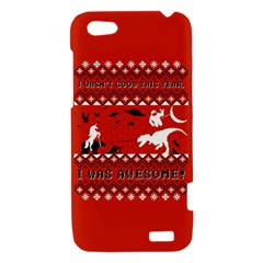 I Wasn t Good This Year, I Was Awesome! Ugly Holiday Christmas Red Background HTC One V Hardshell Case
