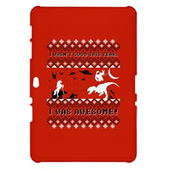 I Wasn t Good This Year, I Was Awesome! Ugly Holiday Christmas Red Background Samsung Galaxy Tab 10.1  P7500 Hardshell Case