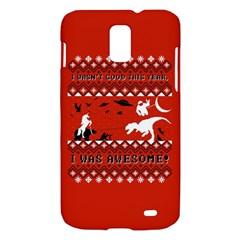 I Wasn t Good This Year, I Was Awesome! Ugly Holiday Christmas Red Background Samsung Galaxy S II Skyrocket Hardshell Case