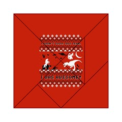I Wasn t Good This Year, I Was Awesome! Ugly Holiday Christmas Red Background Acrylic Tangram Puzzle (6  x 6 )