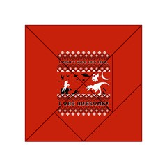 I Wasn t Good This Year, I Was Awesome! Ugly Holiday Christmas Red Background Acrylic Tangram Puzzle (4  x 4 )