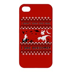 I Wasn t Good This Year, I Was Awesome! Ugly Holiday Christmas Red Background Apple iPhone 4/4S Premium Hardshell Case
