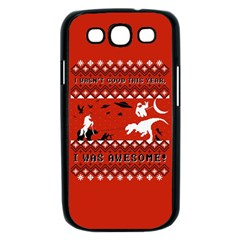 I Wasn t Good This Year, I Was Awesome! Ugly Holiday Christmas Red Background Samsung Galaxy S III Case (Black)