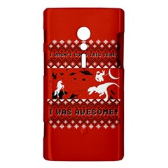 I Wasn t Good This Year, I Was Awesome! Ugly Holiday Christmas Red Background Sony Xperia ion