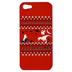 I Wasn t Good This Year, I Was Awesome! Ugly Holiday Christmas Red Background Apple iPhone 5 Hardshell Case