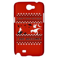I Wasn t Good This Year, I Was Awesome! Ugly Holiday Christmas Red Background Samsung Galaxy Note 2 Hardshell Case