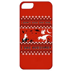 I Wasn t Good This Year, I Was Awesome! Ugly Holiday Christmas Red Background Apple iPhone 5 Classic Hardshell Case
