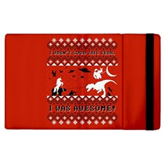 I Wasn t Good This Year, I Was Awesome! Ugly Holiday Christmas Red Background Apple iPad 3/4 Flip Case