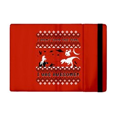 I Wasn t Good This Year, I Was Awesome! Ugly Holiday Christmas Red Background Apple iPad Mini Flip Case