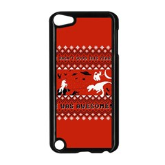 I Wasn t Good This Year, I Was Awesome! Ugly Holiday Christmas Red Background Apple iPod Touch 5 Case (Black)
