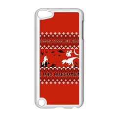 I Wasn t Good This Year, I Was Awesome! Ugly Holiday Christmas Red Background Apple iPod Touch 5 Case (White)