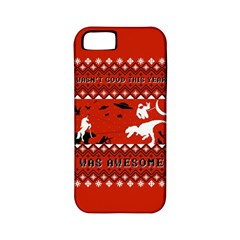 I Wasn t Good This Year, I Was Awesome! Ugly Holiday Christmas Red Background Apple iPhone 5 Classic Hardshell Case (PC+Silicone)