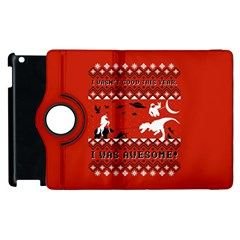 I Wasn t Good This Year, I Was Awesome! Ugly Holiday Christmas Red Background Apple iPad 3/4 Flip 360 Case