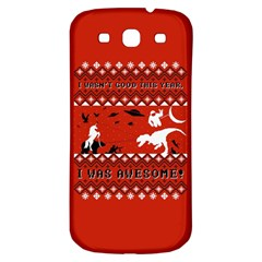 I Wasn t Good This Year, I Was Awesome! Ugly Holiday Christmas Red Background Samsung Galaxy S3 S III Classic Hardshell Back Case