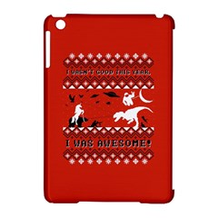 I Wasn t Good This Year, I Was Awesome! Ugly Holiday Christmas Red Background Apple iPad Mini Hardshell Case (Compatible with Smart Cover)