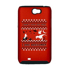 I Wasn t Good This Year, I Was Awesome! Ugly Holiday Christmas Red Background Samsung Galaxy Note 2 Hardshell Case (PC+Silicone)