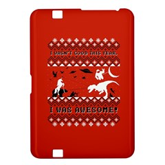 I Wasn t Good This Year, I Was Awesome! Ugly Holiday Christmas Red Background Kindle Fire HD 8.9