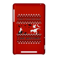 I Wasn t Good This Year, I Was Awesome! Ugly Holiday Christmas Red Background Nexus 7 (2012)