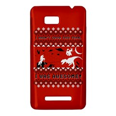 I Wasn t Good This Year, I Was Awesome! Ugly Holiday Christmas Red Background HTC One SU T528W Hardshell Case